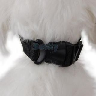 Soft Mesh Pet Dog Muzzle Anti Bark Bite Chew Black Sz S