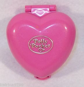 1993 Bluebird Polly Pocket Pink Heart Dog Cat Pet House Used