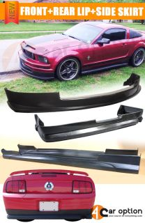 05 09 Ford Mustang V6 Front Rear Bumper Lip Spoiler Body Kit Side Skirt