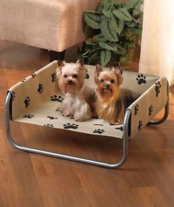 Paw Print Dog Cot Pet Bed Beds New Soft Dogs Double s Luxury Unique 32 Cat Warm