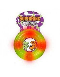 Pet Qwerks Super Ring Dog Toy Petqwerks Lights Flashy Float Free SHIP in The USA
