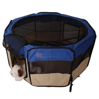 "35""45""48"" Portable Puppy Pet Dog Soft Tent Playpen Excercise Folding Crate Pen"