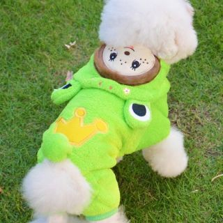 Hoodie Green Dog Dress Dog Clothes Pet Dog Sweater Jumpsuit for Puppy Dog Coat M