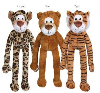 Zanies Playful Pouncers Dog Toy Squeaker Plush Squeaky Toys Lion Tiger Panther