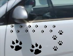 Set of 58X Dog Wolf Paw Prints Paws Print Decals Stickers Vinyl Art Car Bike PP2