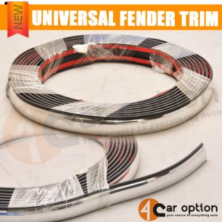 Exterior Chrome Trim Strip for Door Window Pillar Handle Bumper 5M 23mm Mazda