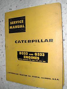 Cat Caterpillar D333 G333 Service Shop Manual Engine Diesel 79B 80B 84B 87B 88b