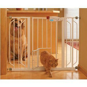New Carlson 0930PW Extra Wide Walk thru Gate Cat Dog Pet Door White