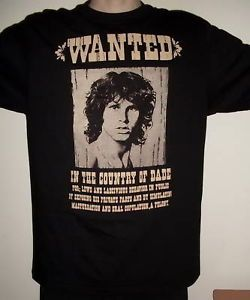 Doors Jim Morrison Wanted Retro T Shirt Size s New
