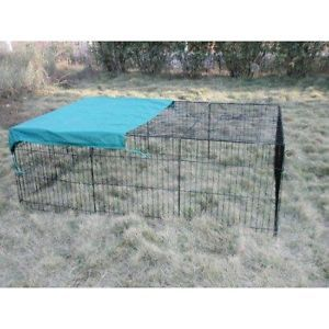 "New 72"" x 48"" Pet Playpen w Door Cover Rabbit Enclosure Dog Cat"