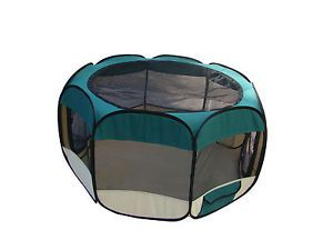 Teal Pet Dog Cat Tent Puppy Playpen Exercise Pen L