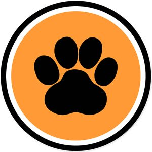 "Paw Print Pets Pet Lover Dog Cat Circle Car Bumper Sticker Decal 4"" x 4"""