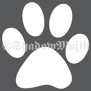 3 inch Dog Cat Paw Print Vinyl Decal Sticker