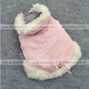 Free SHIP Beautiful Pink Dog Sweater Coats Cotton Dog Clothes Wear Clothing