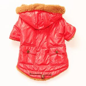 Autumn Winter Jacket Coat Dog Clothes Dog Clothing Dog Wear Sweater Pink Sz M