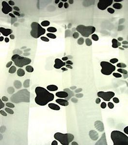 Paw Scarf Black Paw Print Paws Scarves Dog Cat Mascot Ladies Scarf