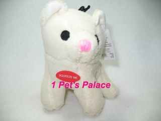 "5"" Plush White Kitty Dog Toy Toys Pet Puppy Pom Pug"