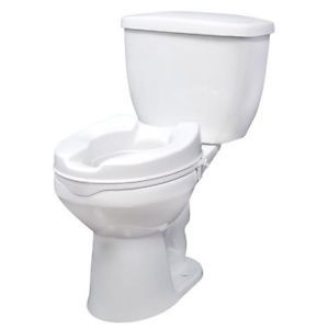 "Drive 12062 White Raised Elevated Toilet Seat Riser Without Lid 2"" Bathroom"