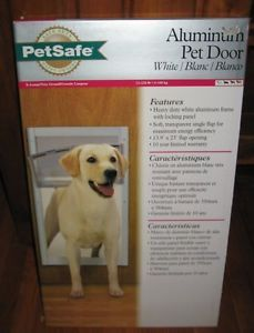 PetSafe Classic Pet Door for Extra x Large XL Pet Dogs 12 220 lbs White Aluminum