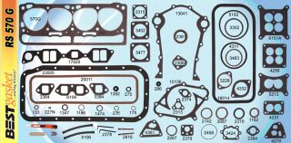 Lincoln 317 1952 55 Full Gasket Set Best Engine Kit