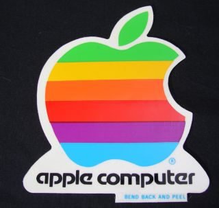 "Vintage Early 80's 4"" Apple Computer Sticker Free s H"