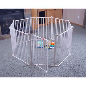 Extra Large Portable Metal Play Yard Children Baby Safety Indoor Outdoor Gate