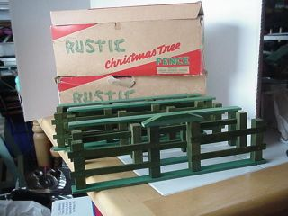 Vtg PR Christmas Tree Rustic Fences Valley Novelty Works Made in Bloomsburg PA