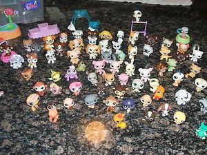 150pc Littlest Pet Shop Huge Lot Animals Cats Dogs Fish Frogs Turtles Accesories