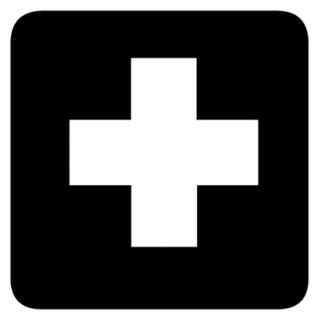 First Aid Symbol Vinyl Decal Sticker