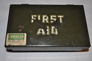 Vintage Collectible Military Style First Aid Kit Box Heavy Duty SEALED Lid