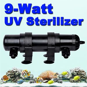 9 Watt UV Light Lamp Sterilizer Aquarium Clarifier Pond Fish Tank w Bulb Tube