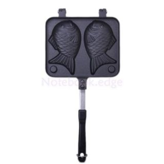 4X Non Stick Taiyaki Fish Shaped Cake Pan Waffle Bread Street Party Food Maker