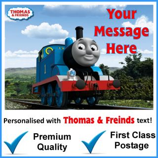 Thomas Freinds Thomas The Tank Engine A4 Personalised Edible Cake Topper