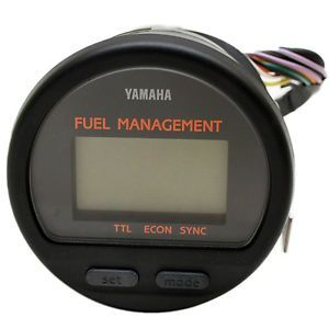 Yamaha 6Y5 W0088 65 Blk Twin Engine Boat Fuel Management Gauge Meter w Sender