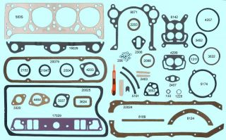 Pontiac 1955 1956 287 316 Full Gasket Set Best Gaskets
