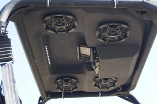 Polaris Ranger XP 09 12 Stereo Top Roof w 4 Speakers iPod Controller LED