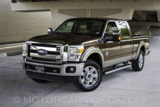 2012 Ford F250 Lariat FX4 Navigation SAT Radio Bluetooth Heated Cooled Seats