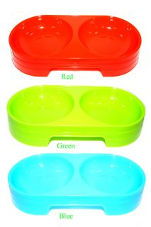 New 3 Colors Pet Dog Cat Food Water Dish Feeder Bowl Plastic Pets Dogs Cats Bowl