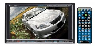 "Planet Audio PI9746B 7"" Touch Screen CD DVD Car Monitor"