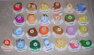 Vtech ABC Food Fun Fridge Magnets Letters Educational