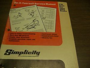 Simplicity DIY Service Manual 3100 Series Rear Engine Riding Mowers St 10665
