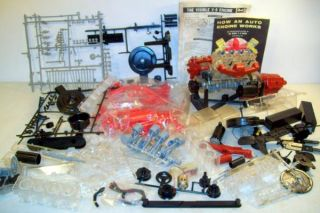 Renwal Revell Vintage Visible V8 Engine Model Kit Toy for Parts or Restore
