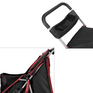 New Large Deluxe Folding 4 Wheels Pet Gear Dog Cat Carrier Stroller Black