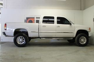 02 Sierra 1500HD Crew Cab SLT 4x4 Lifted Billet Wheels