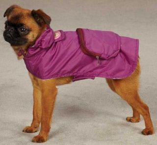 Dog Rain Coat Jacket Pet Waterproof Raincoat Monkey Business Green Raspberry