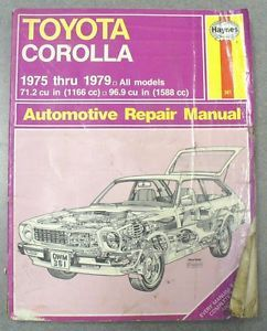 Haynes Toyota Corolla Automotive Repair Manual 75 79