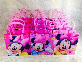 24 PC Disney Mickey Minnie Mouse Goodie Bags Party Favor Bags Gift Bags