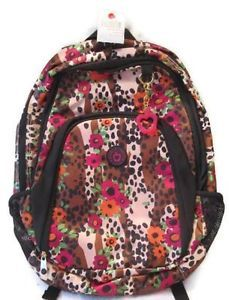 New Double Dutch Club NYC Large Girl's Backpack Bookbag Leopard Brown