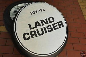 "Toyota RAV4 Land Cruiser Prado Spare Tire Cover 16"" Wheel Tyre Cover White TA2"