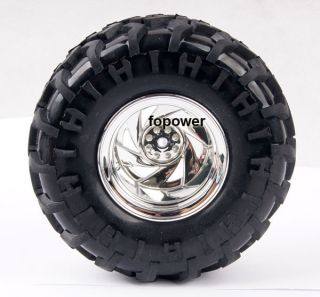 RC Rubber Sponge Tires Tyre Wheel Rim 1 10 Monster Bigfoot Car Truck 6009 3001